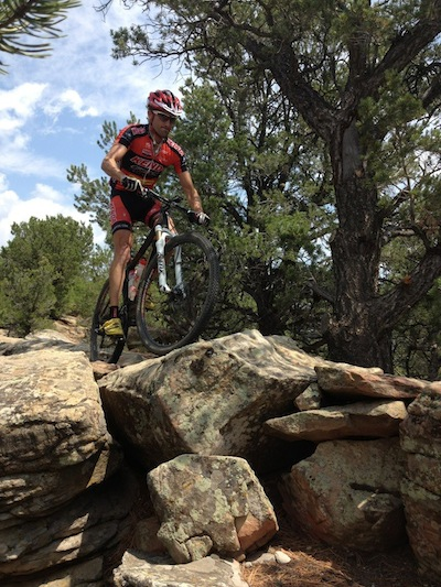 Drew riding Raider's Ridge (Durango, CO)