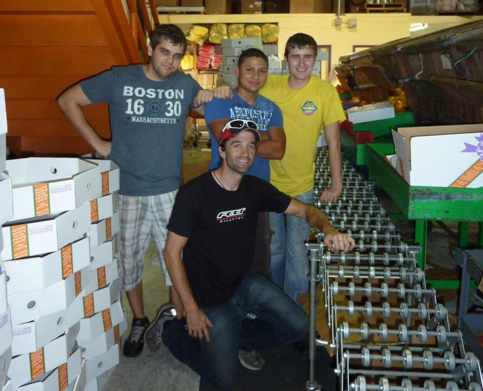 Drew at Sun Harvest - his family's orange grove business