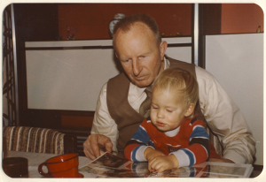 Isabel and her grandfather in 1980.