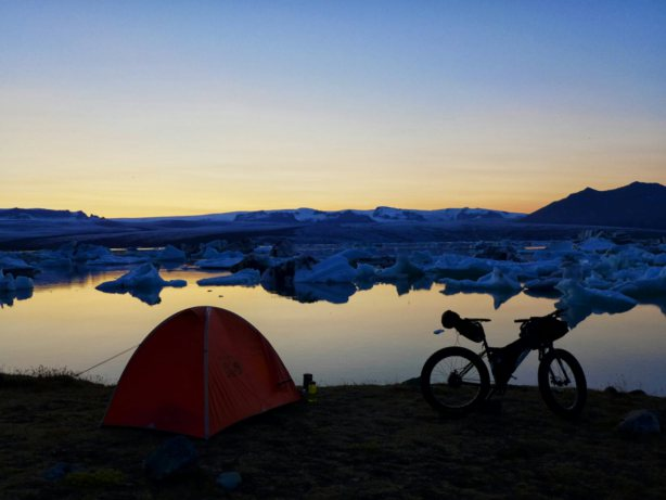 Camping at sunset. Source: Geoff Harper